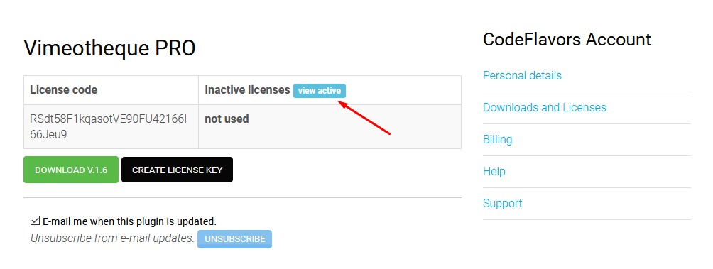 Vimeotheque PRO active license keys