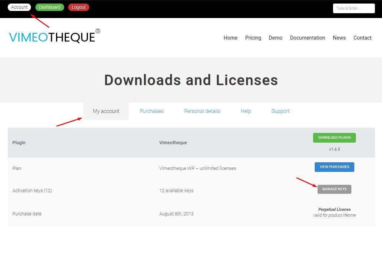 Vimeotheque for WordPress license migration step 1